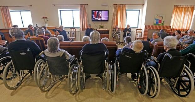 Seniors in nursing home in Portugal