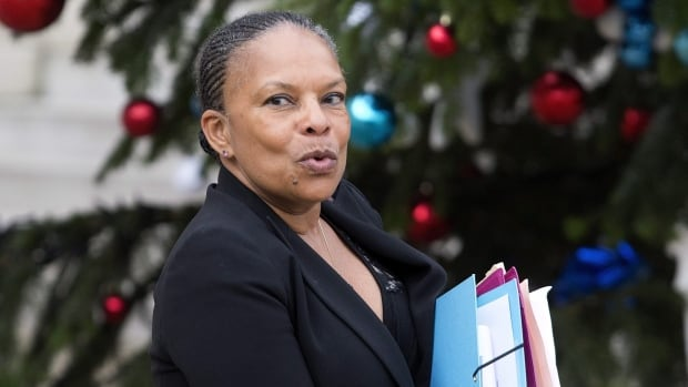 French Justice Minister Christiane Taubira is shown after a cabinet meeting at the Élysée Palace in Paris on Jan. 13.