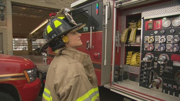 Crystal Kennedy joined the Moncton Fire Department in 2012. The department set a target of having 25 per cent of its firefighters being women.
