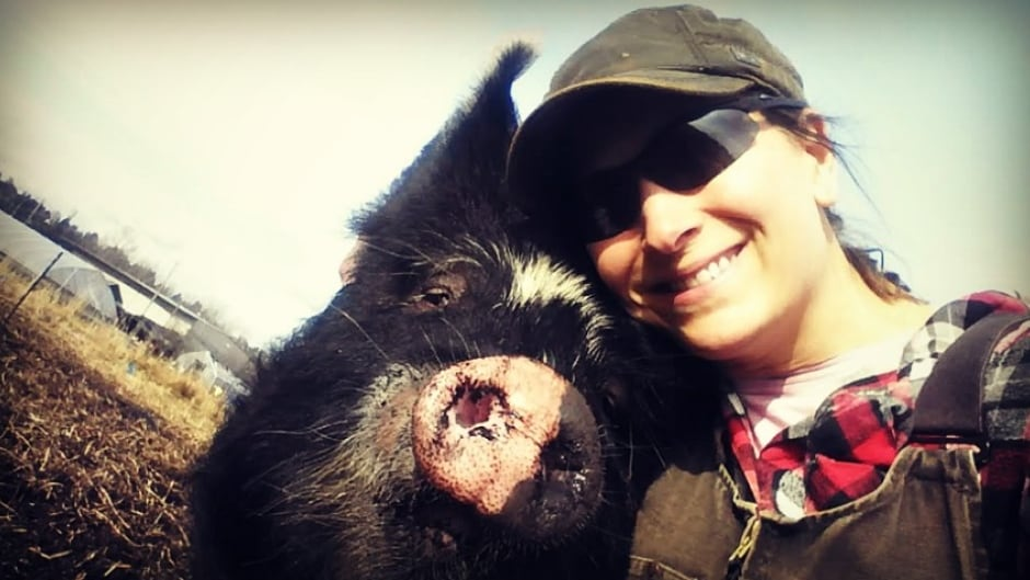 Julia Smith is a pig farmer in Burnaby, B.C. She believes her pigs should have a good - albeit short - life and ensures right until slaughter that her pigs are happy.