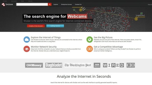 Shodan, a search engine that indexes computers and devices rather than information, now allows users to pull screenshots from nanny cams, security cameras and other connected devices around the world that don't ask for a username or password.