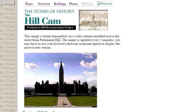 Parliament Hill webcam 1997 waybackmachine internet archive