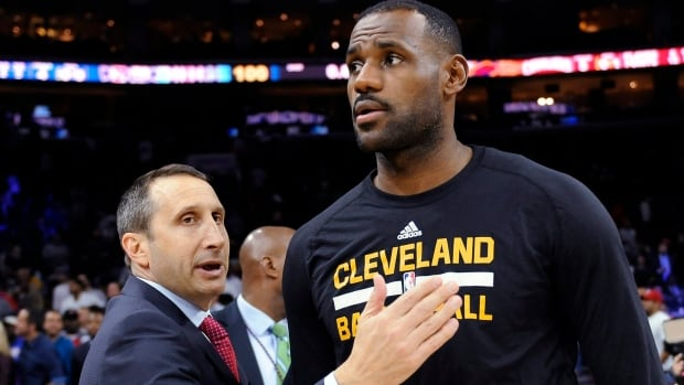 LeBron James, shown with David Blatt, who was fired as coach by the Cleveland Cavaliers on Jan. 22, says he's bothered by criticism that he's undermined coaches.