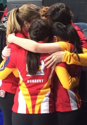 Team Nunavut junior curlers