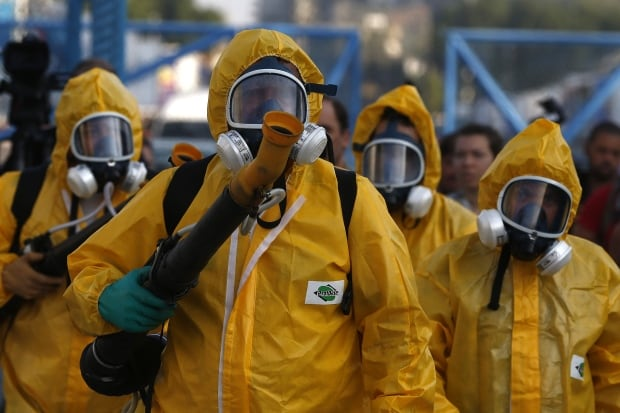 BRAZIL ZIKA VIRUS fumigators at Sambadrome ahead of Carnival Jan 26 2016