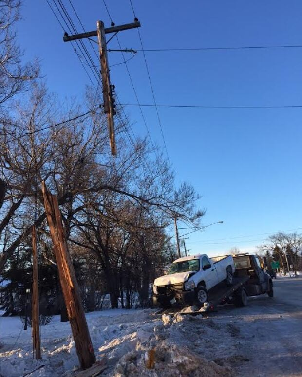 Hydro pole crash