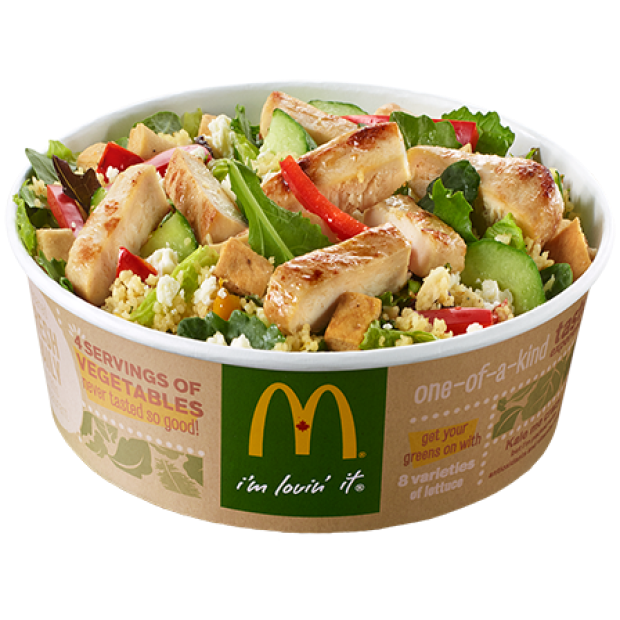 McDonald's greek salad kale