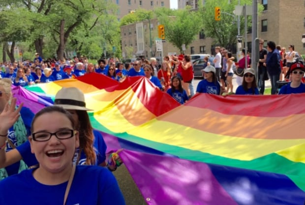 Pride Winnipeg 2015 flag