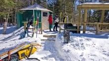 snowshoeing and skiing in northeastern Ontario