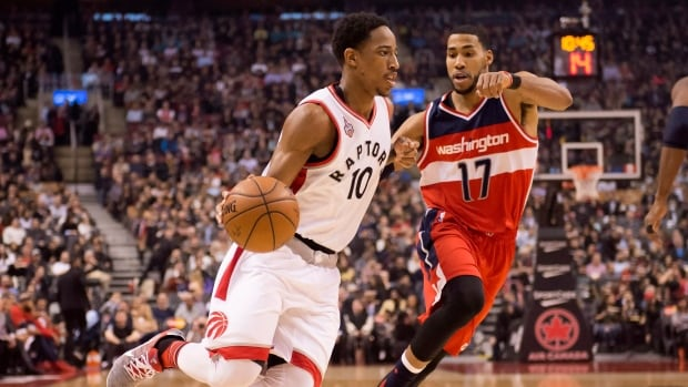 The Raptors' DeMar DeRozan will join teammate Kyle Lowry at the NBA All-Star Game in Toronto after being named to the Eastern Conference roster as a reserve on Thursday. The 26-year-old shooting guard is averaging 23.0 points a night this season.  He and Lowry, with 20.9 points a game, combine for the highest-scoring backcourt in the Eastern Conference