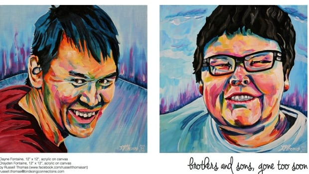 Russell Thomas painted Dayne and Drayden Fontaine, two brothers who died in the La Loche, Sask., shooting.