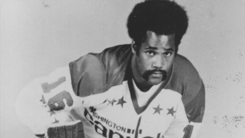 Former Sudbury Wolves star Mike Marson was the second black player to reach  the National Hockey League when he suited up for Washington in 1974. 718de5d0278