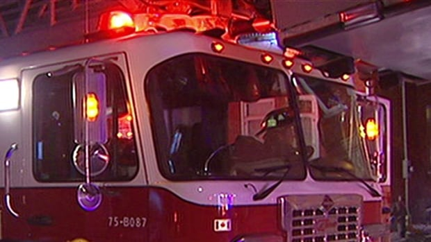 Firefighters were called to a home in Winnipeg's Centennial area on Tuesday morning after an overheated pot of food caused the house to fill with smoke, leaving two adults unconscious.