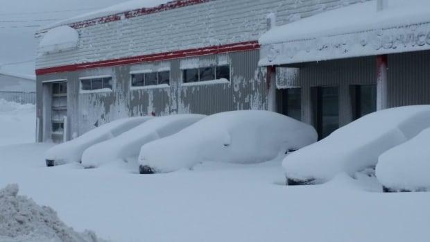 Snowy cars in New Glasgow