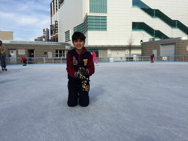 Skating in Windsor Fall