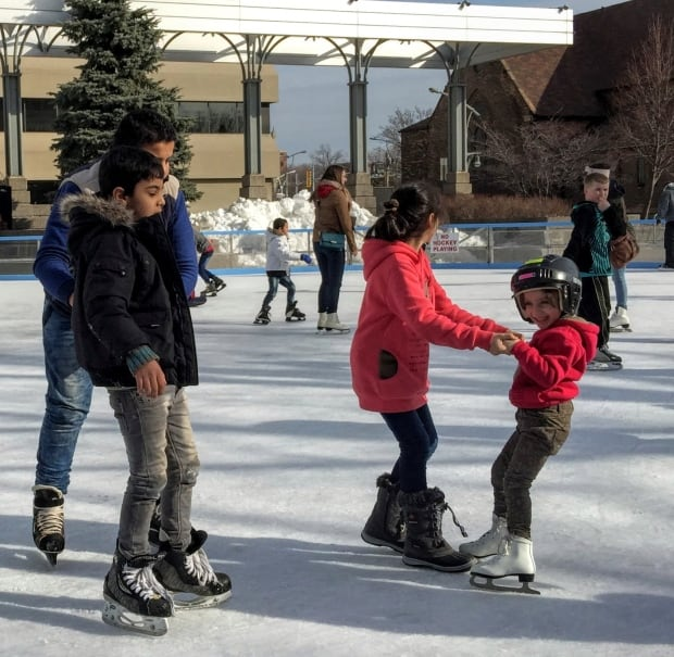 Syrians Skating in Windsor Lessons