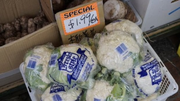 Once the symbolic image of soaring vegetable prices in Canada, cauliflower appears to be affordable yet again, at least in B.C.