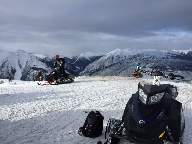 Snowmobilers near McBride B.C.