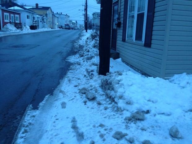 merrymeeting road sidewalk snow