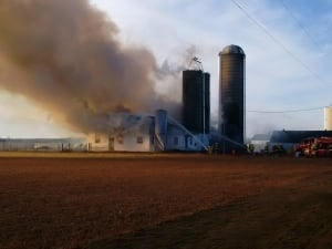 Elgin County barn fire