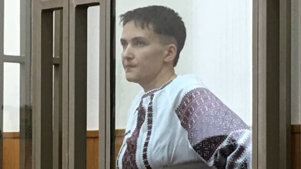 Nadiya Savchenko testifies Monday in her trial in Donetsk, Russia, where she has been charged with complicity in the deaths of two Russian journalists. 'I am a soldier. You are treating me like a murderer,' she told the court.