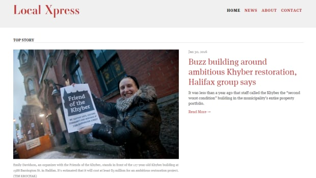 The Local Xpress is the work of the Halifax Typographical Union's 61 members that are on strike from the Chronicle Herald.