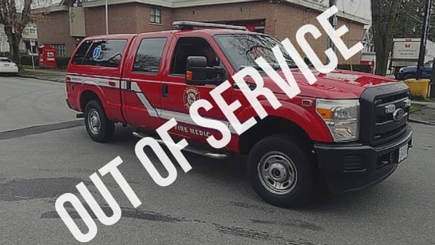 Vancouver firefighters sent this image to the media after their medical fire truck was removed from service temporarily due to staffing decisions.
