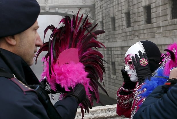 ITALY CARNIVAL Venice security police