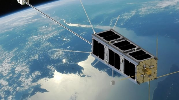 "A team of 40 University of Alberta students have been working on a small ""cube"" satellite similar to this one for the past four years."