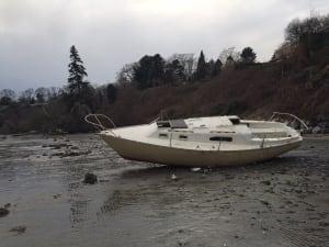 Derelict boat in Cadboro Bay