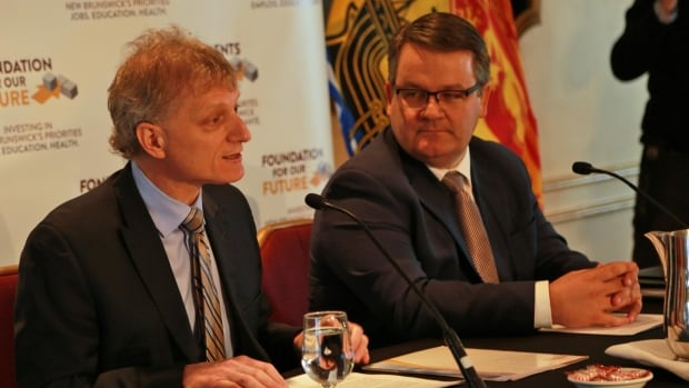 Finance Minister Roger Melanson announced that the senior and middle-manager ranks of the civil service will be cut in the budget.