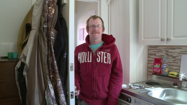 Bryan Kinch, 29, one of 19 clients Housing First has helped since September, is living on his own for the first time and loving it.