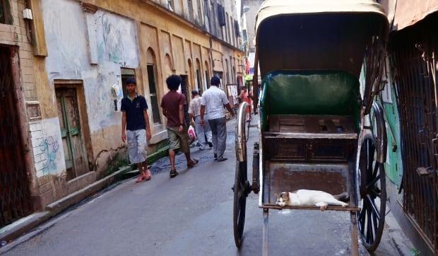 quiet lane in North Calcutta