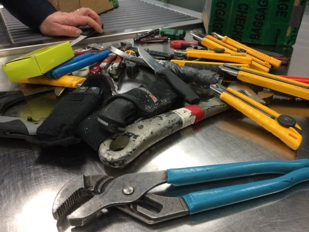 Confiscated items Iqaluit airport Feb. 2 2016