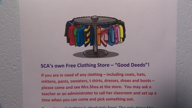 The store lets students swap good deeds for good duds.