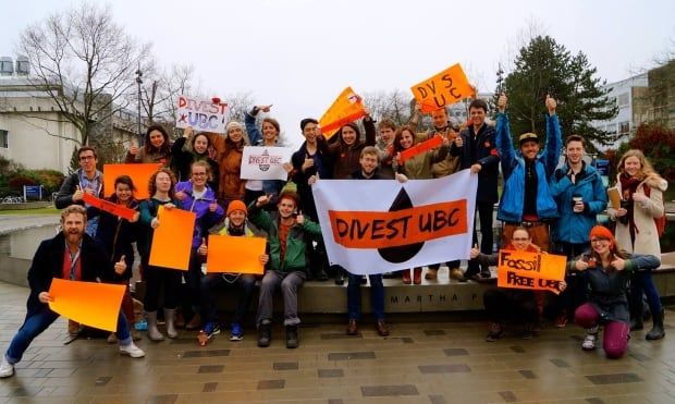UBC student rally on divestment
