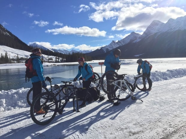 Last Wild Race bike team in Canmore