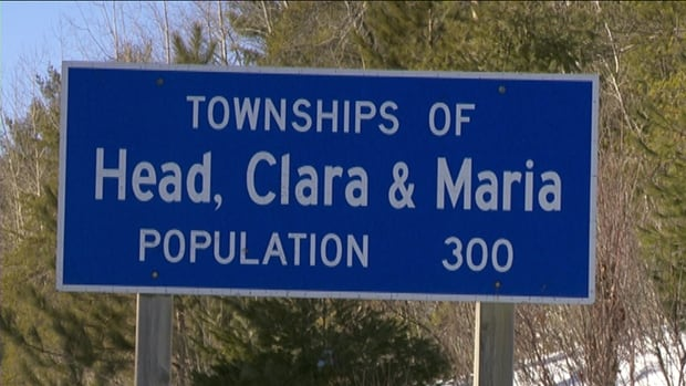 The United Townships of Head, Clara and Maria are approximately 240 kilometres west of Ottawa, and include a stretch of Highway 17.