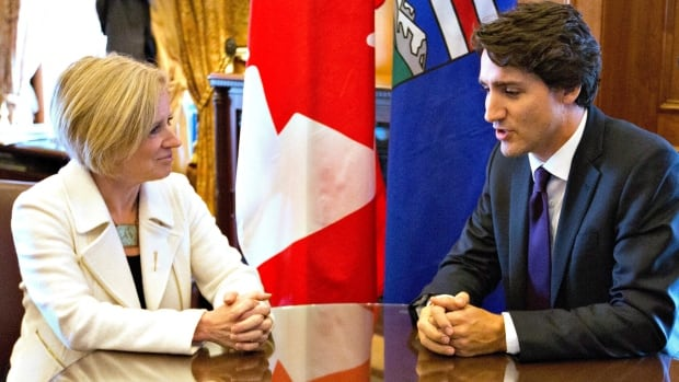 Prime Minister Justin Trudeau and Premier Rachel Notley met in her office at the Alberta legislature Wednesday.