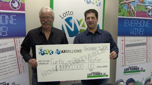 Dad James Hofer and son Curtis had the winning numbers for one of the five Maxmillion Lotto Max draws on Dec. 4.