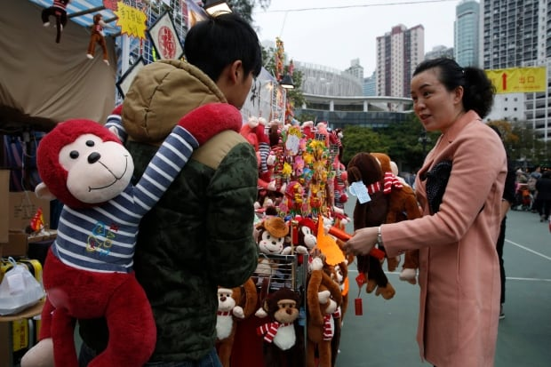 Hong Kong Lunar New Year Monkey