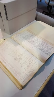 Historic Yukon sternwheeler logbook
