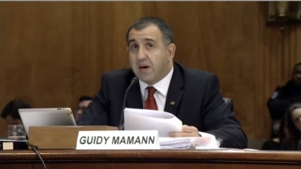 Guidy Mamann testifying about Canada's policy towards Syrian refugees this week in Washington, D.C.