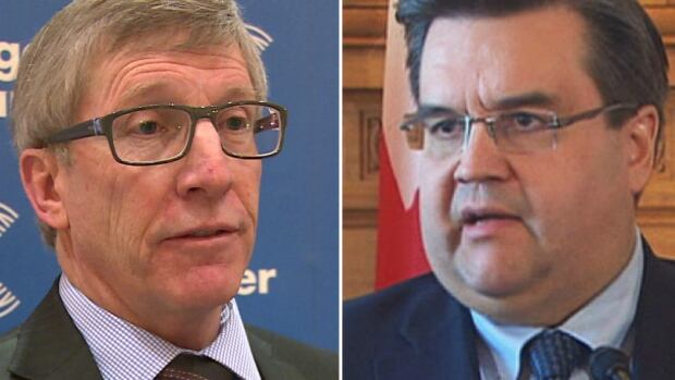 Rick Hanson and Denis Coderre