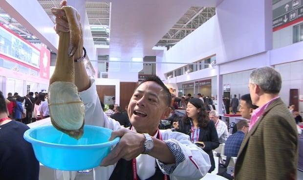 Chef Nathan Fong at Qingdao food expo