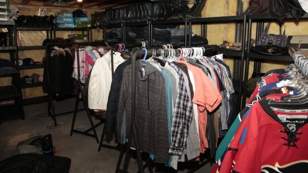 Clothes, some with the retail tags still on, were part of the stash of stolen goods recovered from homes and southeast storage facilities.