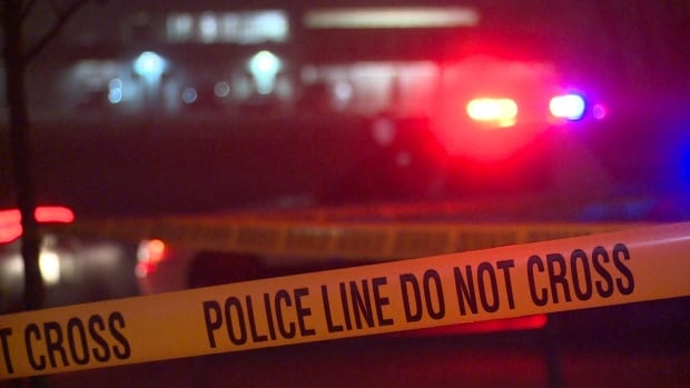 Two men are in hospital with gunshot wounds, after a shooting in Surrey on Saturday night.
