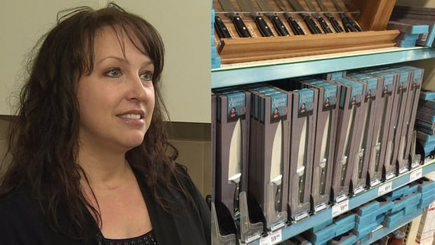 Debbie Robbins managed to get a chef's knife from a newly-stocked Jamie Oliver knife display at Sobeys in St. John's Wednesday.
