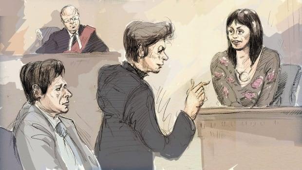 Ghomeshi trial sketch - Feb 5