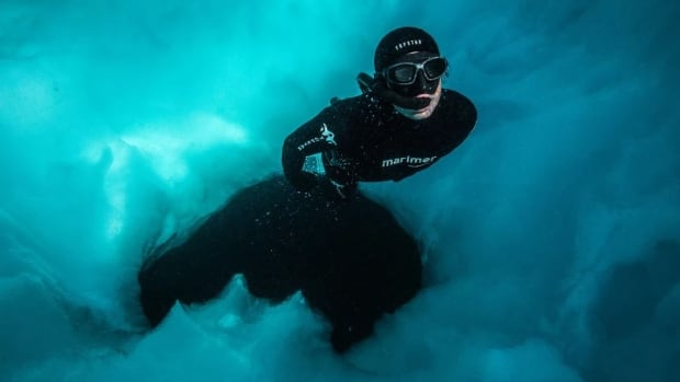 French freedivers Laurent Marie (pictured) and Cedric Batteur will be demonstrating their sport in Qikiqtarjuaq.